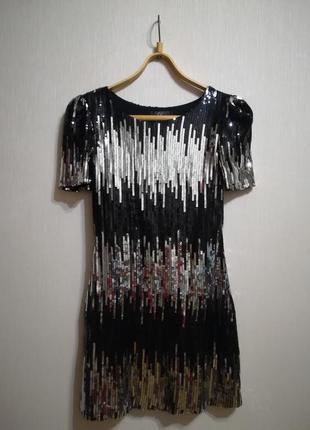 Блестящее платье с паетками от rare