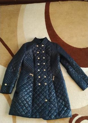 Пальто куртка плащ демісезон  синій