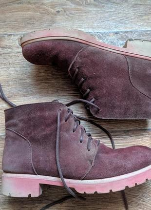 Осенние замшевые ботинки 36 р 23 см