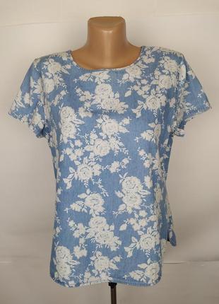 Блуза топ красивая хлопковая uk 12/40/m