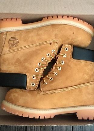 Original! классические меховые ботинки timberland 6 in premium wheat nubuck{темно рыжий}