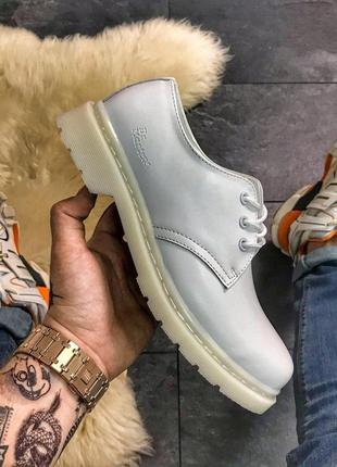 Шикарные кожаные туфли dr. martens 1461 mono white (унисекс) 😍