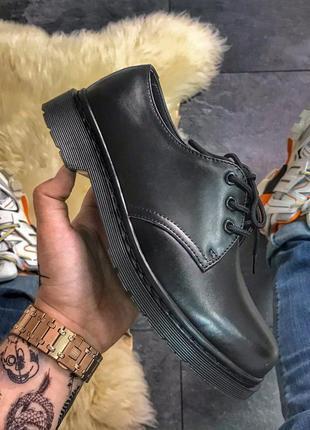 Шикарные кожаные туфли dr. martens 1461 mono black (унисекс) 😍