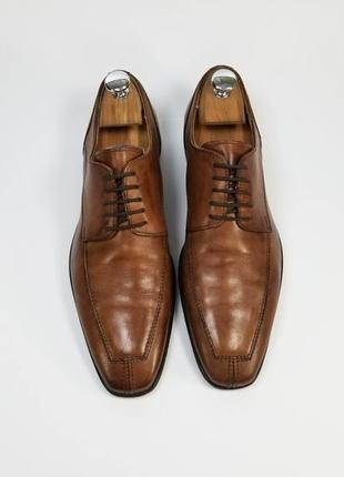 Walder made in italy кожаные туфли броги оксфорды коричневого цвета