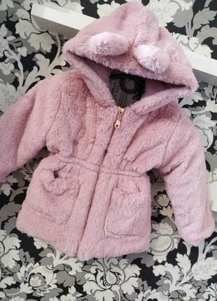 Курточка шубка розовая для девочки