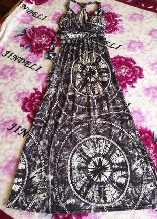 Яркий сарафан платье в пол