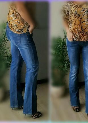 С-м 27-28р p&b джинсы синие,прямые,низкая посадка