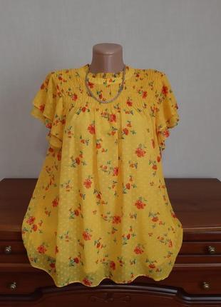 Скидка! шикарная, яркая, фирменная, удлиненная блуза.