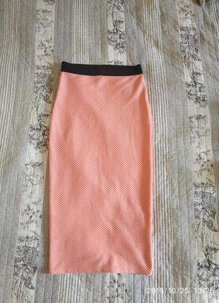 Оптягивающая юбка с завышенной талией