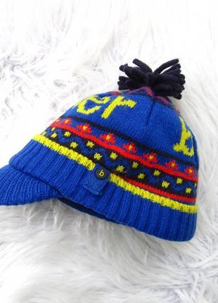 Стильная теплая шапка блейзер бейсболка baker by ted baker