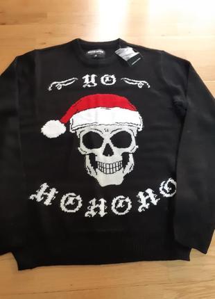 Новый фирменный свитер much more р-р m.германия хэллоуин,череп,черепок