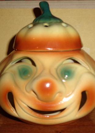 Аромалампа тыква керамика хэллоуин лампа