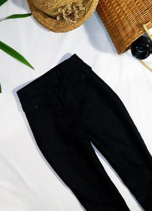 Узкие брюки из натурального льна (брюки сигареты, льняные штаны)