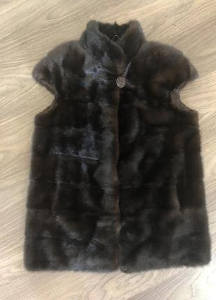 🔥 black friday 🔥  меховая жилетка из норки цвет махагон