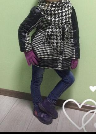 Модное пальтишко 3-5 лет