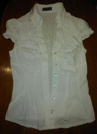 Стрейчевая блуза школьная р. 40