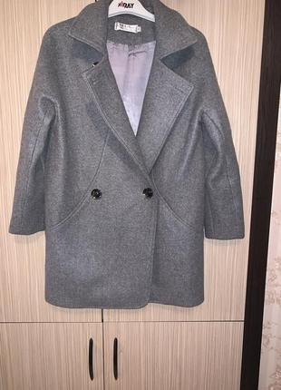 Драповое тёплое пальто