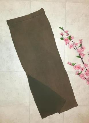 🌿обнова 🎁1+1=3 длинная трикотажная юбка макси с высокой талией vila, размер 46 - 48