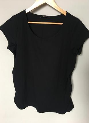 Хлопковая, чёрная футболка george для беременных , 14/l