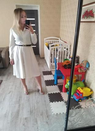 Нарядное платье белое айвори
