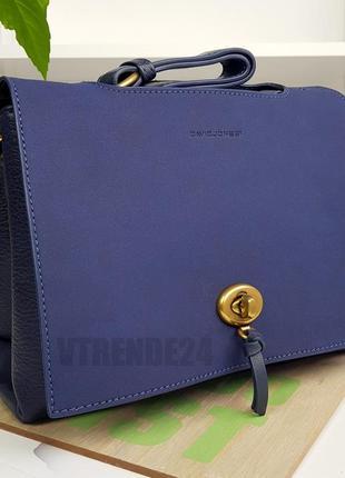 Бесплатная доставка #5425 blue david jones оригинальная большая женская сумка кроссбоди