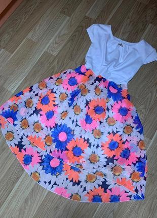 Платье в цветочек на маленькую девочку🤗