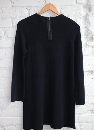 Платье свитер zara, прямой силуэт