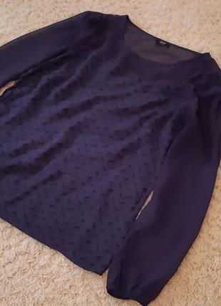 Блуза с оленями  в отличном состоянии!  размер 16. f&f.