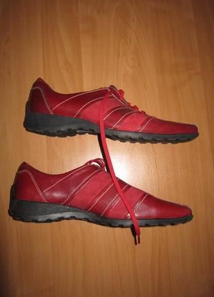 Комфортные ботинки туфли caprice на шнуровке кожа замша