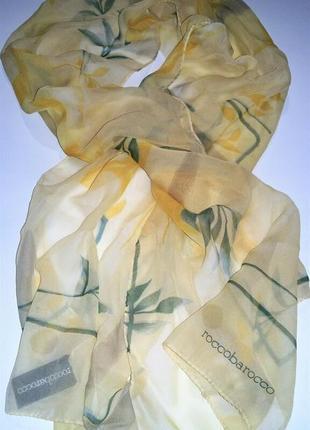 Шелковый шарф roccobarocco италия оригинал