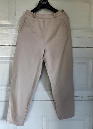 Плотные укорочённые бежевые чиносы/ джинсы от дорогого бренда ⭐️