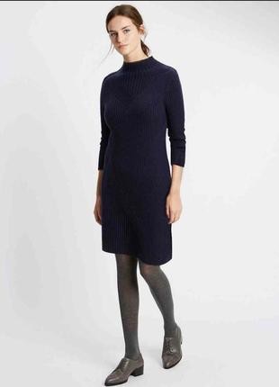 Вязаное платье с шерстью