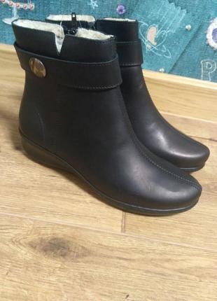 Теплые кожаные ботинки inblu.