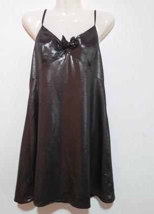 Шикарное вечернее  блестящее платье раз.12
