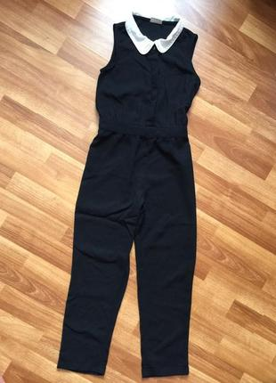 Классический укороченный комбинезон с прямыми брюками без рукавов