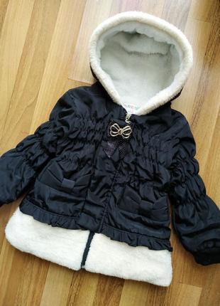 Курточка с мехом, демисезонная