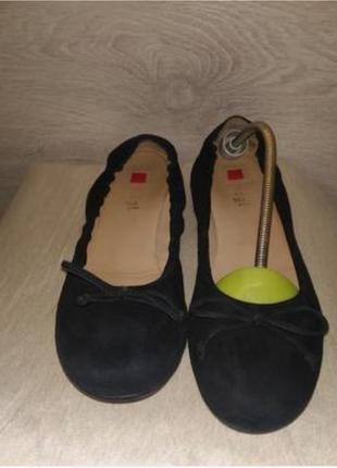 Замшевые туфли hogl