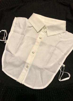 Воротник обманка женский белый. рубашка - обманка