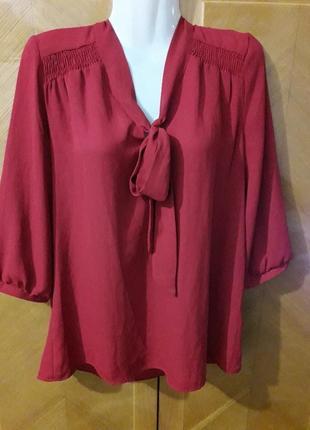 Новая классическая блуза atmosphere  р.14 бордового цвета