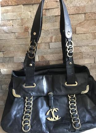 Шикарная кожаная сумка roberto cavalli оригинал