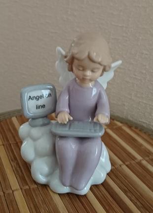 """Оригинальная фарфоровая статуэтка фигурка ангел """"angel online"""""""