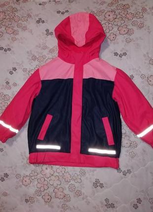 Куртка дождевик с капюшоном на флисе x-mail на 4-5лет