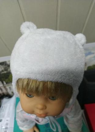 Теплая шапочка с ушками