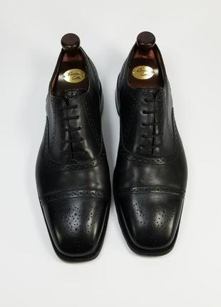 Borelli made in italy кожаные туфли броги оксфорды черного цвета