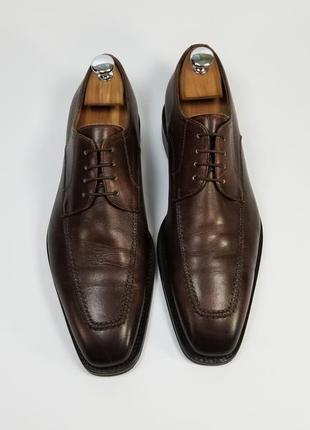 Flecs made in italy кожаные туфли броги оксфорды коричневого цвета