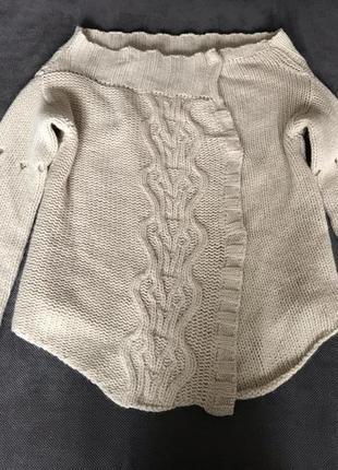 Швеция теплый объемный стильный кардиган свитер шерсть ангора hunkydory essentials