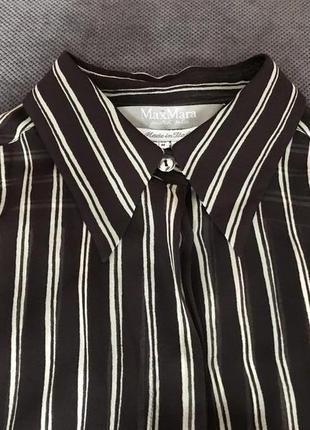 100% шелковая блузка max mara оригинал