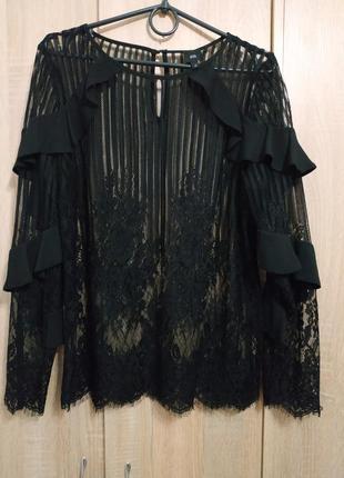 Элегантная женская блузка river island, размер 12.