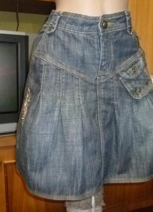 Брендовая джинсовая юбка осень-зима-весна