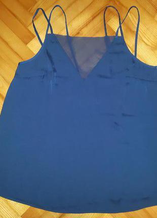 Шифоновая блуза на бретелях от gina tricot! p.-44